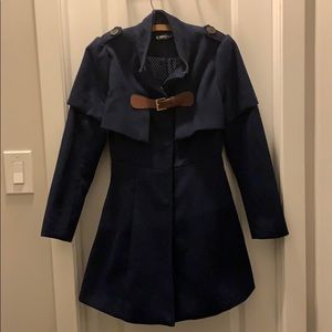 Navy Peacoat with buckle